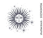 the face of the sun and the... | Shutterstock .eps vector #1025434936