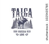 Taiga  Moose Horned On The...