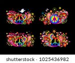colorful t shirt prints... | Shutterstock .eps vector #1025436982