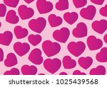 vector heart love seamless... | Shutterstock .eps vector #1025439568