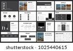 modern minimalist black and... | Shutterstock .eps vector #1025440615