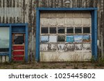 old decrepit garage gas station ... | Shutterstock . vector #1025445802