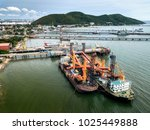 aerial view of ban ao udom ship ... | Shutterstock . vector #1025449888