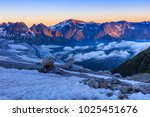 glacier du tour in french alps. ... | Shutterstock . vector #1025451676