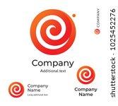 flower swirl line logo modern... | Shutterstock .eps vector #1025452276