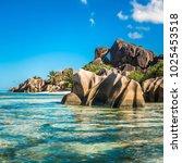 tropical island beach  source d'... | Shutterstock . vector #1025453518