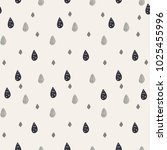 cute seamless drop pattern..... | Shutterstock .eps vector #1025455996