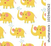 vector seamless pattern  cute... | Shutterstock .eps vector #1025463262