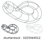 set of klein bottles  | Shutterstock .eps vector #1025464012
