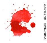 paint splash and drop. hand... | Shutterstock . vector #1025464045