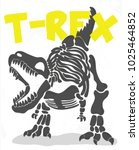 Cool T Rex Fossil Illustration...