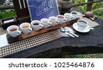 bali coffee tasting | Shutterstock . vector #1025464876