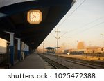 early morning on the empty... | Shutterstock . vector #1025472388