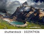 mount fitz roy and laguna torre ... | Shutterstock . vector #102547436