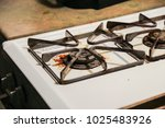 gas stove oven dirty rusted... | Shutterstock . vector #1025483926