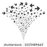 arrow direction explosion... | Shutterstock .eps vector #1025489665