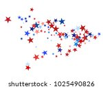 american patriotic background ... | Shutterstock .eps vector #1025490826