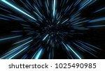abstract of warp or hyperspace... | Shutterstock . vector #1025490985