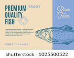 premium quality trout. abstract ... | Shutterstock .eps vector #1025500522