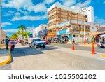 isla mujeres  mexico  january... | Shutterstock . vector #1025502202