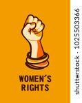 feminism concept female power.... | Shutterstock .eps vector #1025503366