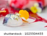 elegant dessert in the plate ... | Shutterstock . vector #1025504455