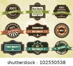 retro quality labels  vintage... | Shutterstock .eps vector #102550538