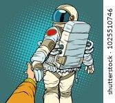 astronaut space travel follow...   Shutterstock .eps vector #1025510746