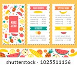 kids menu template | Shutterstock . vector #1025511136