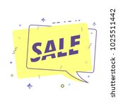 sale banner. sale text on... | Shutterstock .eps vector #1025511442