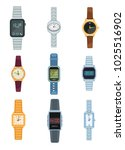 set of watches icons isolated... | Shutterstock .eps vector #1025516902