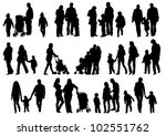 drawing parents and child | Shutterstock . vector #102551762