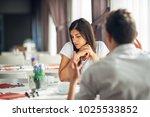 sad depressed woman being... | Shutterstock . vector #1025533852