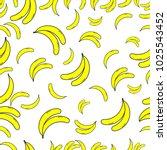 banana seamless pattern. set of ...   Shutterstock .eps vector #1025543452