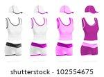 women's blank sport t shirt ... | Shutterstock .eps vector #102554675