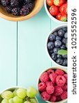 Overhead Shot Of Five Fruit...