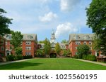 wayland hall in brown... | Shutterstock . vector #1025560195