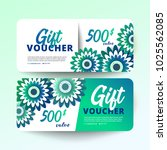 set of gift certificate with...   Shutterstock .eps vector #1025562085