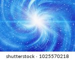 bright flash on a space... | Shutterstock . vector #1025570218
