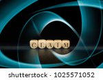 claim word on wooden cubes.... | Shutterstock . vector #1025571052
