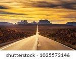 Desert Road Leading To Monumen...