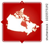 simple outline map of canada... | Shutterstock .eps vector #1025575192