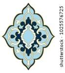 abstract medallion for design.... | Shutterstock .eps vector #1025576725