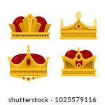 set of emperor or king shiny... | Shutterstock .eps vector #1025579116