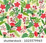vector seamless pattern. pretty ... | Shutterstock .eps vector #1025579965