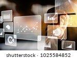 businnesman and digital... | Shutterstock . vector #1025584852
