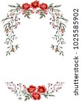 invitation card template in the ... | Shutterstock . vector #1025585902