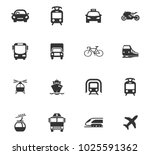 public transport icons set for... | Shutterstock .eps vector #1025591362