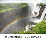 Rainbow Over Victoria Falls On...