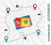 travelling ilustration flat... | Shutterstock .eps vector #1025598055
